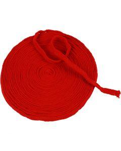Tubolare di maglia, L: 10 mm, rosso natalizio, 10 m/ 1 rot.