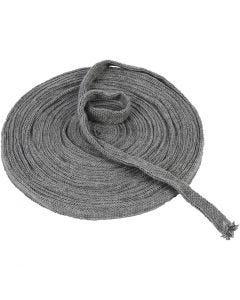 Tubolare di maglia, L: 15 mm, grigio, 10 m/ 1 rot.