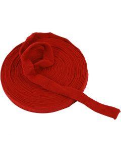 Tubolare di maglia, L: 22 mm, rosso natalizio, 10 m/ 1 rot.
