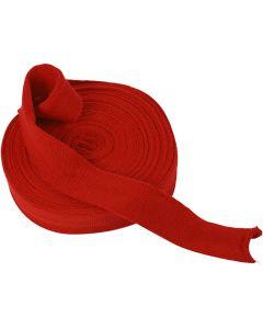 Tubolare di maglia, L: 40 mm, rosso natalizio, 10 m/ 1 rot.