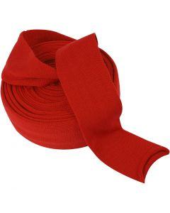 Tubolare di maglia, L: 80 mm, rosso natalizio, 10 m/ 1 rot.