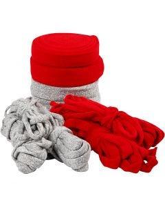 Tubolare di maglia, L: 10-40 mm, grigio, rosso, 50 m/ 1 conf.