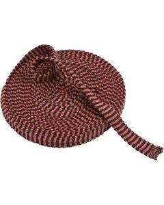 Tubolare di maglia, L: 22 mm, rosso antico/ grigio, 10 m/ 1 rot.