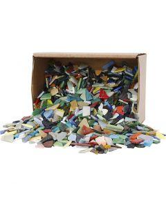 Tessere per mosaico, misura 8-20 mm, colori asst., 2 kg/ 1 conf.