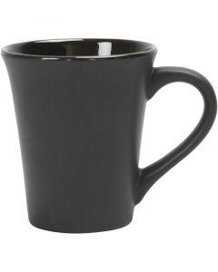 Tazza, H: 10 cm, diam: 5,9-8,7 cm, 300 ml, nero, 12 pz/ 1 scat.
