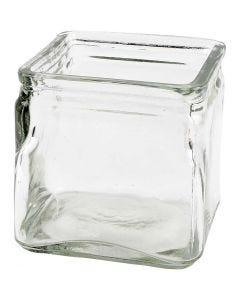 Portacandela quadrato, H: 10 cm, misura 10x10 cm, 12 pz/ 1 scat.