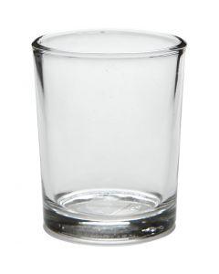 Tealight portalumino, H: 6,5 cm, diam: 4,5-5,5 cm, 120 ml, 12 pz/ 1 scat.
