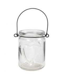 Lanterna, H: 9,5 cm, diam: 6,5 cm, 12 pz/ 1 scat.