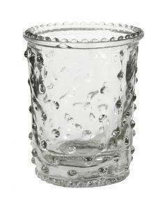 Tealight portacandela, H: 7,8 cm, diam: 6,4 cm, 100 ml, 6 pz/ 1 scat.