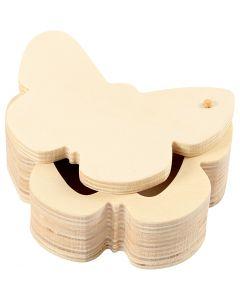 Scatola in legno, H: 4 cm, L: 10 cm, 1 pz
