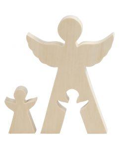 Figura 2 in1, Angeli, H: 7,8+20 cm, L: 4,5+14,3 cm, 1 set