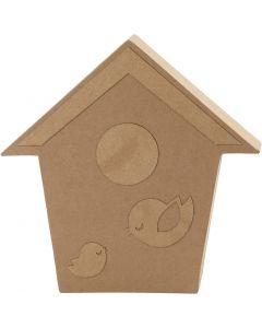Casetta degli uccelli, H: 18 cm, P 2,5 cm, 1 pz