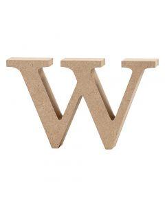 Lettera, w, H: 8 cm, spess. 2 cm, 1 pz