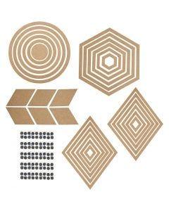 Decorazioni da muro, H: 5,5-29,5 cm, il contenuto può variare , 10 set/ 1 conf.