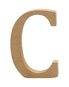 Lettera, C, H: 8 cm, spess. 1,5 cm, 1 pz
