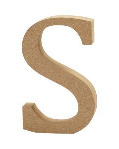 Lettera, S, H: 8 cm, spess. 1,5 cm, 1 pz