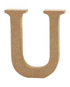 Lettera, U, H: 8 cm, spess. 1,5 cm, 1 pz