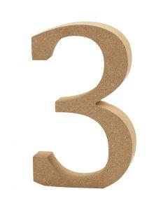 Numero, 3, H: 8 cm, spess. 1,5 cm, 1 pz