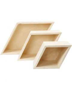 Scatole portaoggetti, H: 11+14+20 cm, P 10 cm, 3 pz/ 1 set