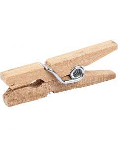 Mollette in legno, L: 25 mm, L: 3 mm, 30 pz/ 1 conf.