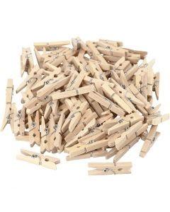 Mollette in legno, L: 30 mm, L: 3 mm, 100 pz/ 1 conf.