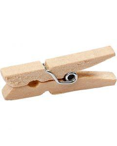 Mollette in legno, L: 30 mm, L: 3 mm, 30 pz/ 1 conf.