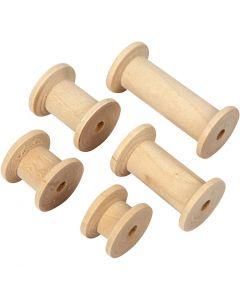 Rocchetto, L: 15+20+27+38+50 mm, diam: 24 mm, 10 pz/ 1 conf.