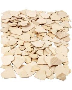 Cuori mosaico in legno, misura 18-30 mm, 250 pz/ 1 conf.