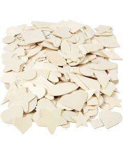 Forme mosaico in legno, misura 1,3-5,5 cm, 500 pz/ 1 conf.