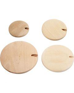Perla bottone in legno, diam: 20-35 mm, 320 pz/ 1 conf.