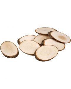Fette di legno, spess. 8 mm, il contenuto può variare , 12 pz/ 1 conf.
