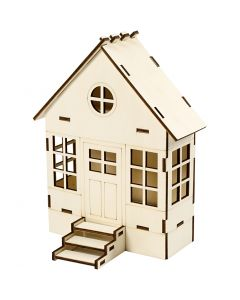 Casa da costruire, H: 24 cm, P 6(12,5) cm, L: 19 cm, 1 pz