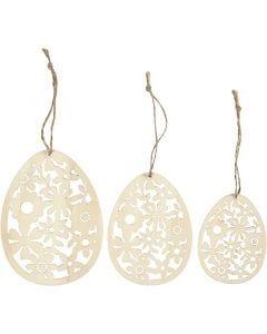 Ornamenti, H: 8+10+12 cm, L: 6+7,5+9 cm, 3 pz/ 1 conf.