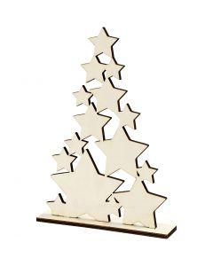 Albero di Natale, H: 29,8 cm, P 4 cm, L: 21,5 cm, 1 pz