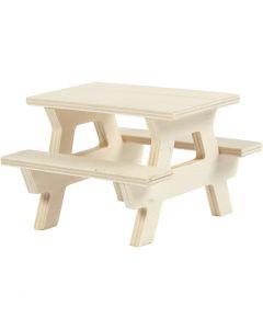 Tavolo da picnic, H: 5,5 cm, L: 8 cm, 1 pz