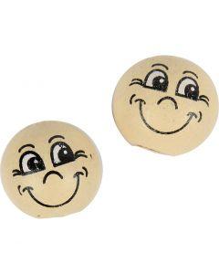 Palline sorridenti, diam: 12 mm, rosa chiaro, 20 pz/ 1 conf.