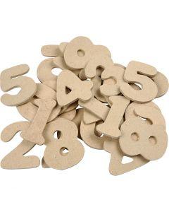 Numero, H: 4 cm, spess. 2,5 mm, 30 pz/ 1 conf.