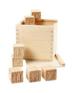 Cubi con lettere, misura 3x3x3 cm, 27 pz/ 1 conf.