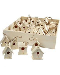 Casa per gli uccelli, H: 7 cm, 6x10 pz/ 1 conf.