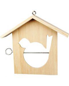 Casa per gli uccelli, misura 19x21 cm, 1 pz