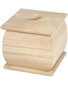 Mini scatola con coperchio, misura 7,5x7,5x8 cm, 1 pz