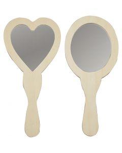 Specchietti, misura 23-24 cm, 2 pz/ 1 conf.