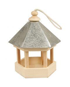 Gazebo con tetto in zinco, misura 22x18x16,5 cm, 1 pz