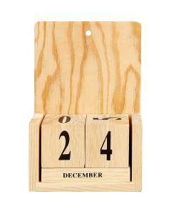 Calendario con cubi, misura 13x5,5x19,2 cm, 1 set