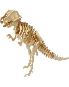 Kit costruzione 3D in legno, dinosauro, misura 33x8x23 cm, 1 pz