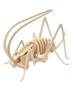 Kit costruzione 3D in legno, grillo, misura 22,5x15x18 cm, 1 pz
