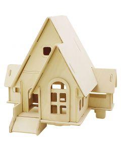 Costruzioni 3D, Casa con scivolo, misura 22,5x17,5x20,5 , 1 pz