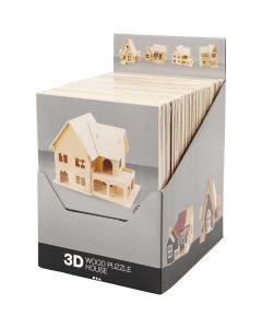 Kit costruzione 3D in legno, 24 pz/ 1 conf.