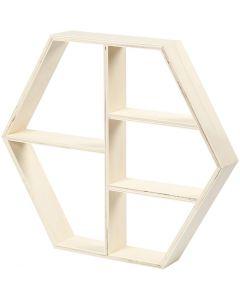 Mensola in legno, H: 33,5 cm, L: 38,5 cm, 1 pz