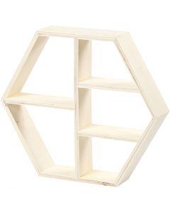 Mensola in legno, H: 25 cm, L: 28,5 cm, 1 pz